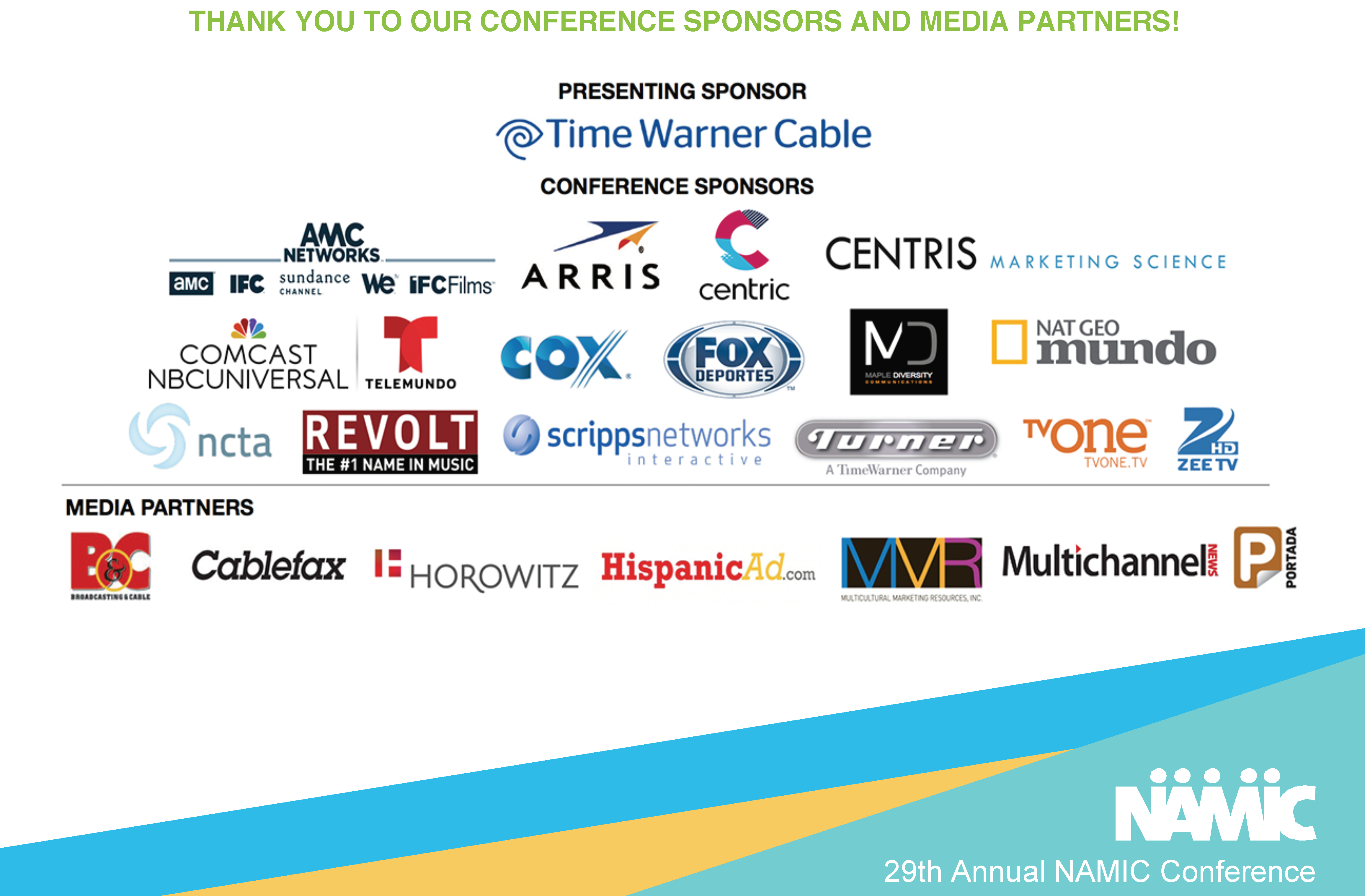 Conference Sponsors-Media Partners